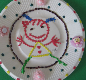 幼儿园纸盘画;