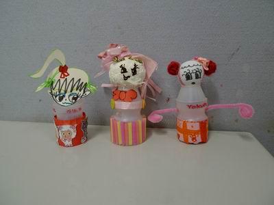 瓶子娃娃幼儿园美工区大班美工区材料图片美工区