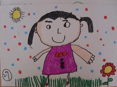 优秀儿童画范画人物