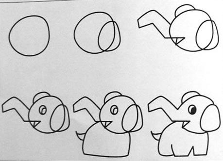 大象 小象简笔画最新图库 卡通小鱼简笔画 带翅膀的小象简笔画
