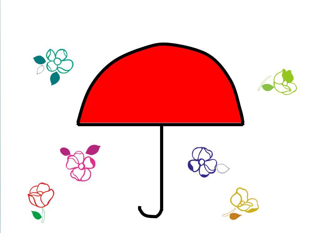 幼儿花雨伞图片