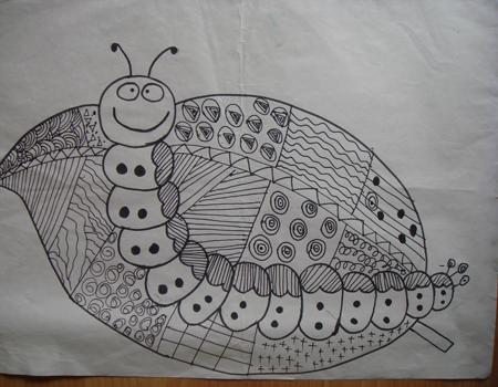 幼儿园中班绘画范画 幼儿园中班鱼简笔画