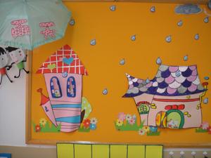 幼儿园美工区墙面布置图片