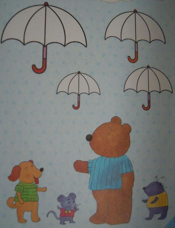 小花伞简笔画图片_幼儿简笔画小花伞_小花伞怎么画