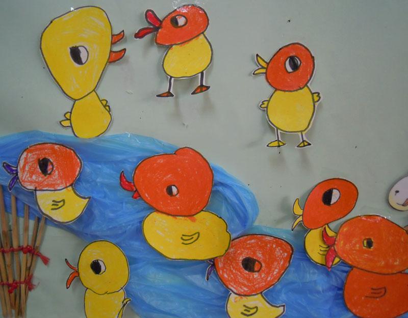 幼儿园大班美术鸭子分享展示