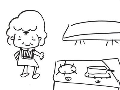 妈妈正在洗衣服,爸爸正在拖地板. 奶奶正在做小菜,爷爷正在看报纸.
