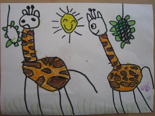 长颈鹿  昨天,我们和爸爸妈妈一起参加了幼儿园