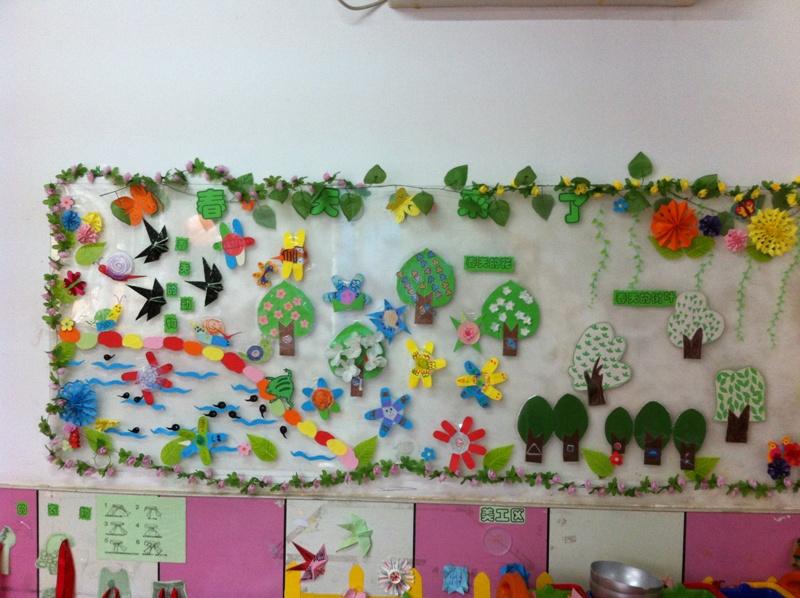 春天来了主题墙:让幼儿了解春天的动物,花
