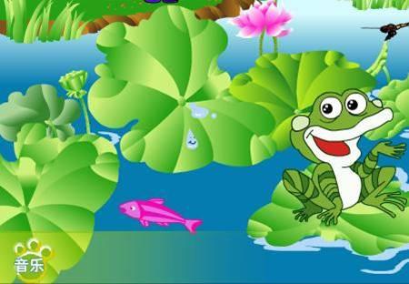 卡通青蛙荷叶图片分享_琪琪卡通图片