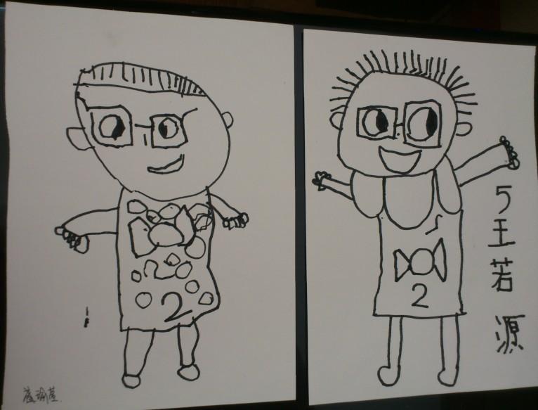 我爱爸爸妈妈简笔画