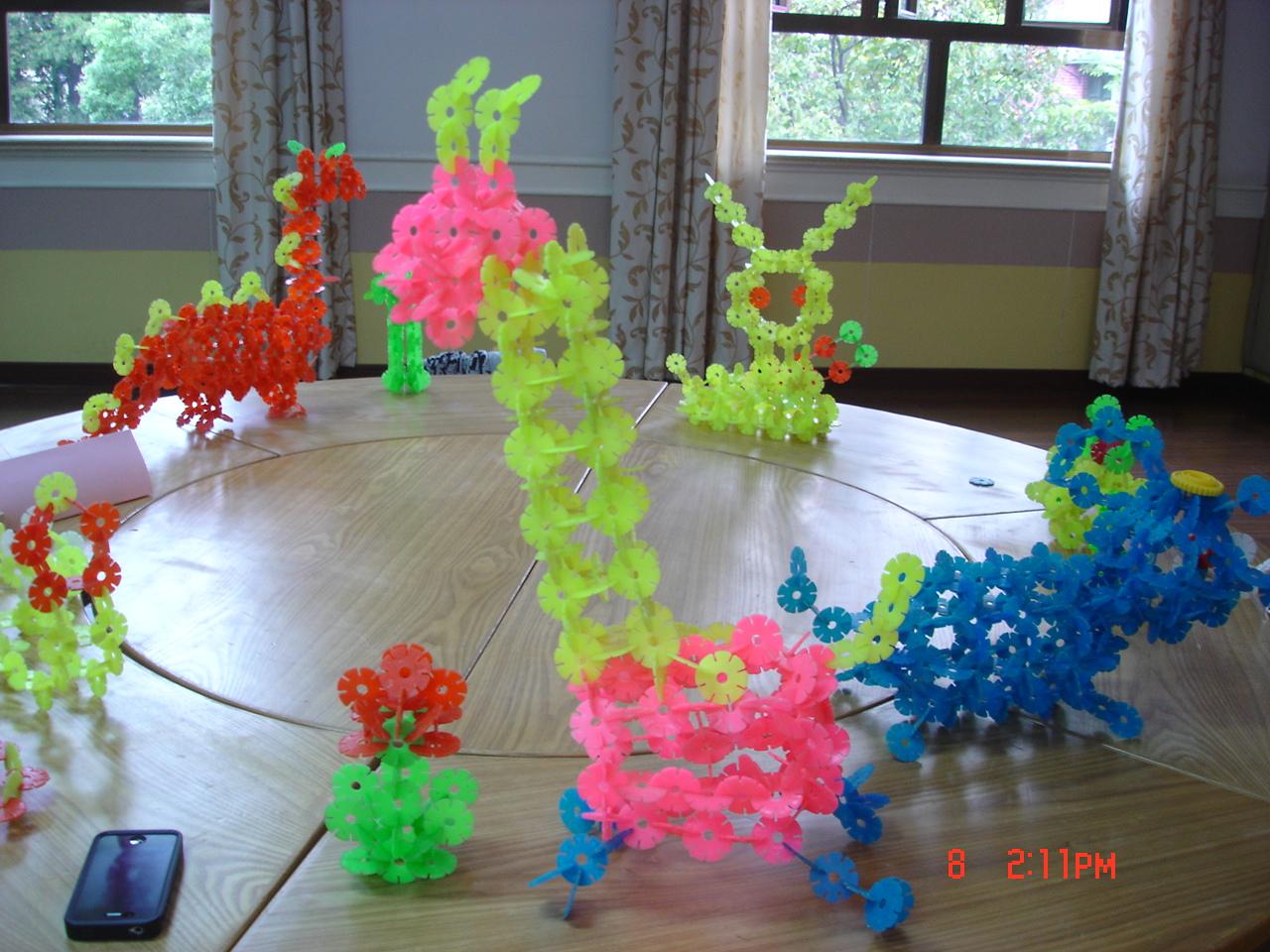 雪花片搭建动物步骤图