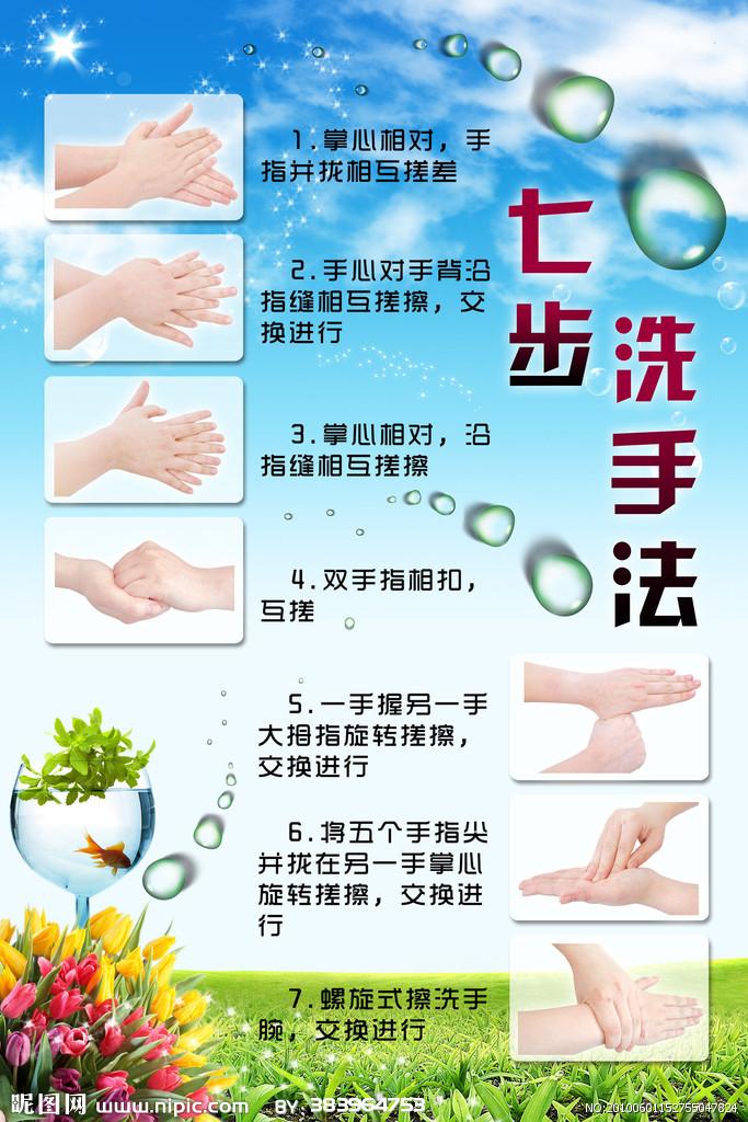 洗手七步法