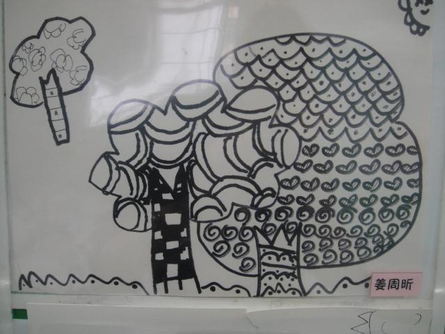 幼儿园线描简笔画