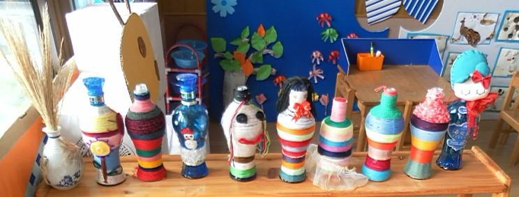 幼儿园手绘酒瓶