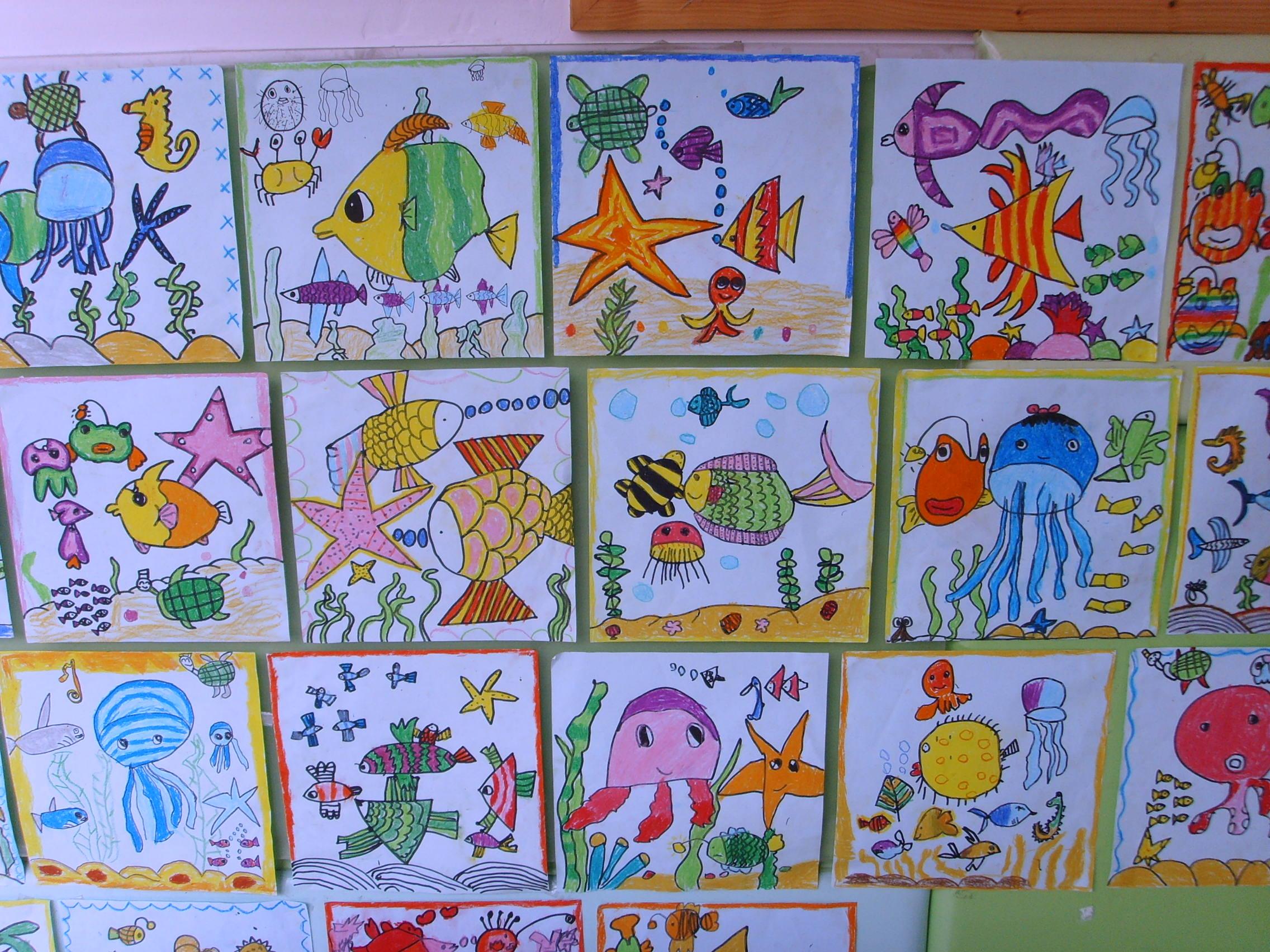 信息详细 - 嘉定菊园幼儿园; 儿童海底画图片 儿童线描画图片大全儿童