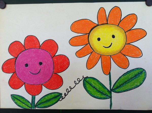 春天的花绘画,春天的花朵绘画,绘画春天的花园_大山谷图片