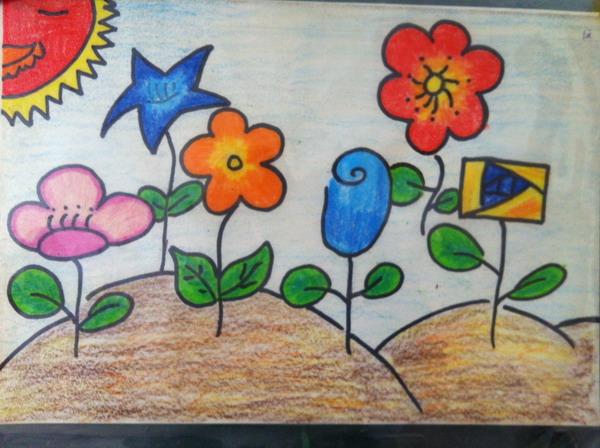 春天的景色画一幅图画,春天花园的图画,小学生画春天的图画,高清图片