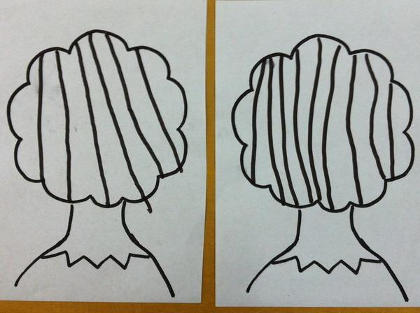 园所主页 班级主页 小(六)班 班级相册  直线画直发式:第一次画26个孩