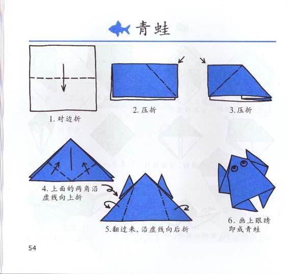 幼儿园青蛙 折纸