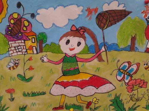 美丽的春天儿童图画 美丽的春天简笔图画 幼儿画美丽的春天