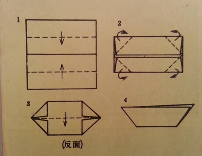 幼儿园小班小船折纸步骤