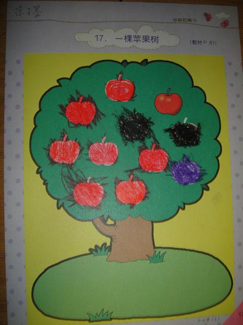 园所主页 小二班 幼儿作品 一颗苹果树  一颗苹果树——徐子墨