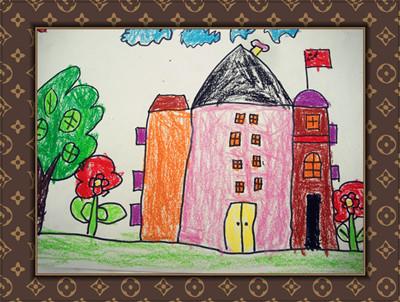 作品背景:本主题是幼儿生活周围的房子为核心,利用幼儿园周围的家庭