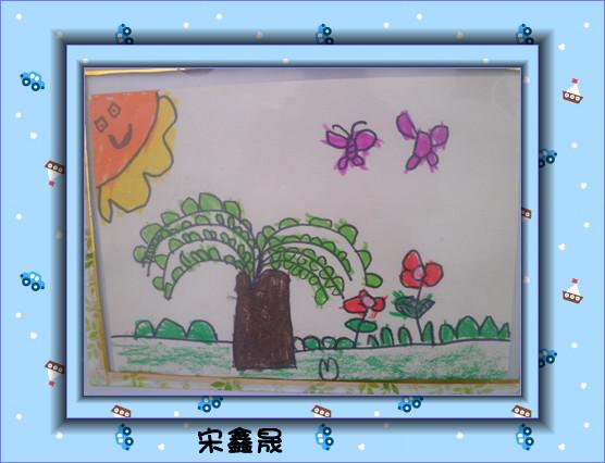 幼儿作品  活动名称:柳条飘飘 活动目标: 1,感受春天来了,柳树发芽,抽