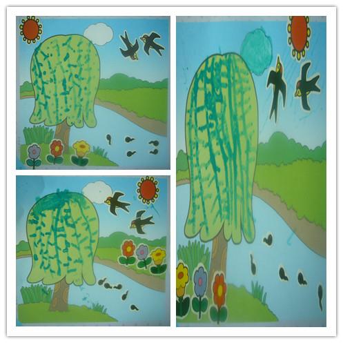 春天来了,燕子飞回来了,柳树发芽了