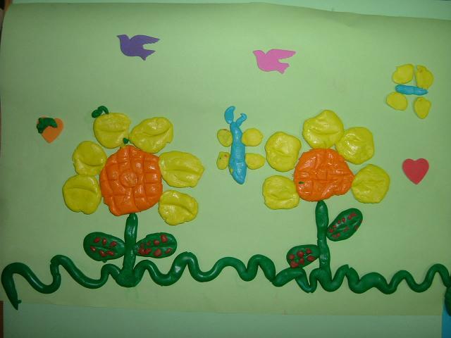 幼儿园清新小动物风景画