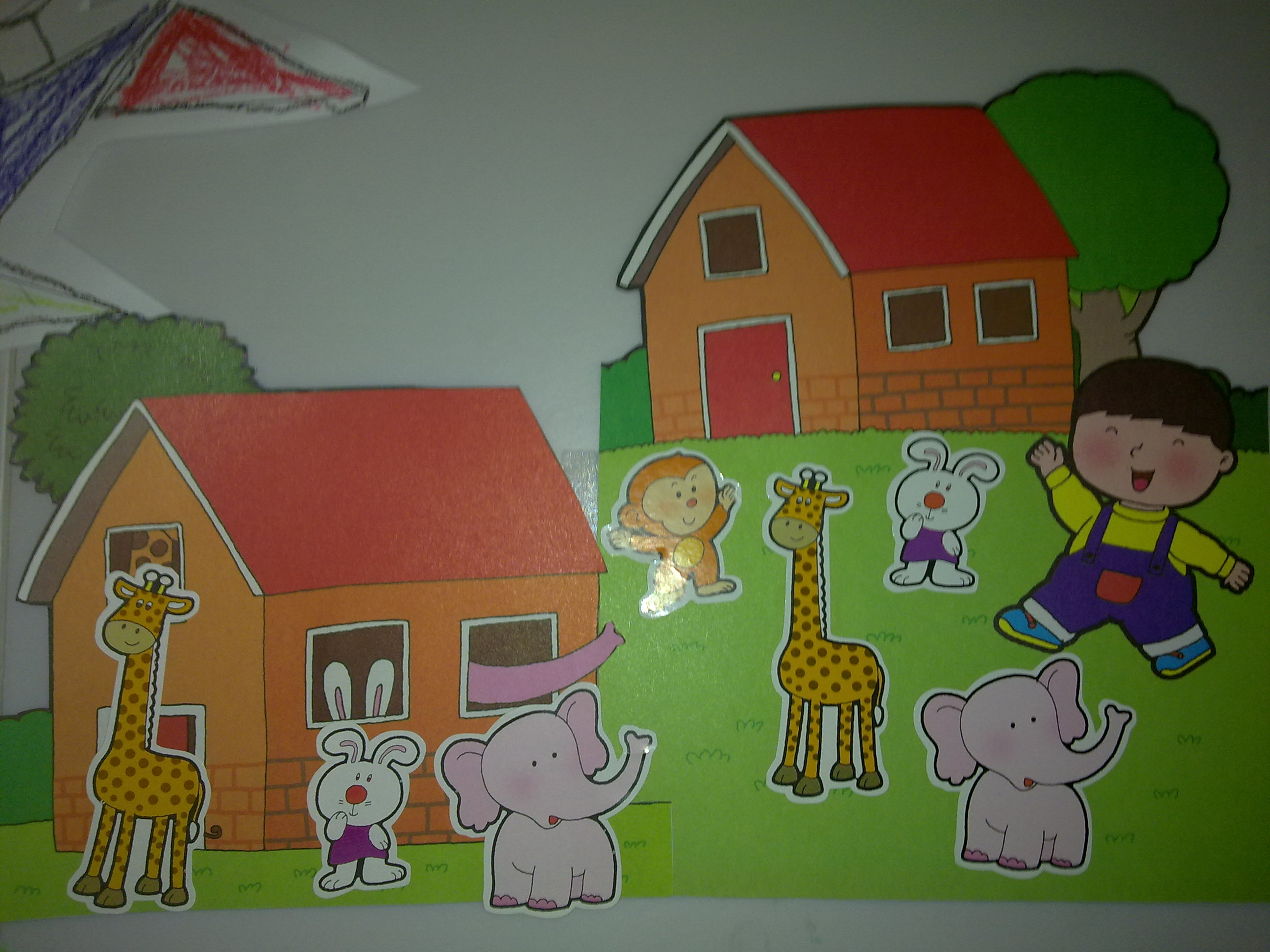 故事:《谁来了》; 小班动物朋友主题墙分享