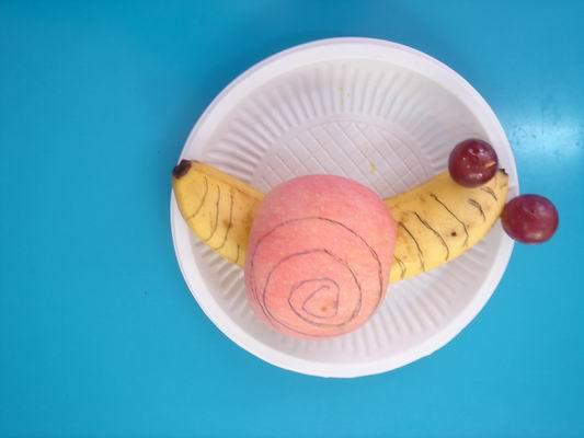 大二班 幼儿照片  真正水果做的水果蛋糕 漂亮的太阳姐姐 小蜗牛可爱