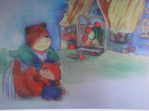 熊妈妈和熊宝宝冻得睡不着觉