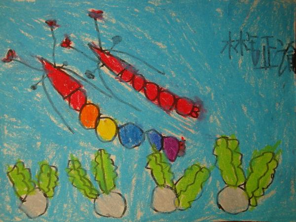 幼儿简笔画画虾的步骤