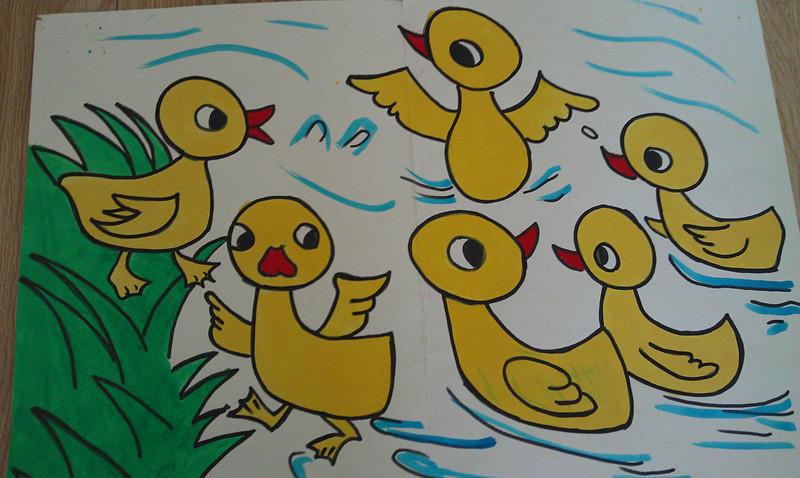 大班可爱的小鸭子