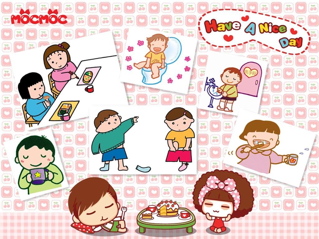 幼儿独立吃饭卡通画图片展示图片