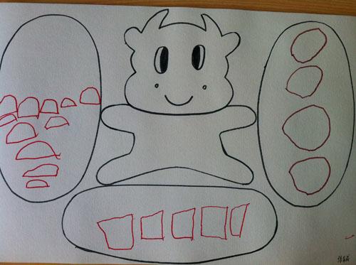 幼儿可爱小牛简笔画