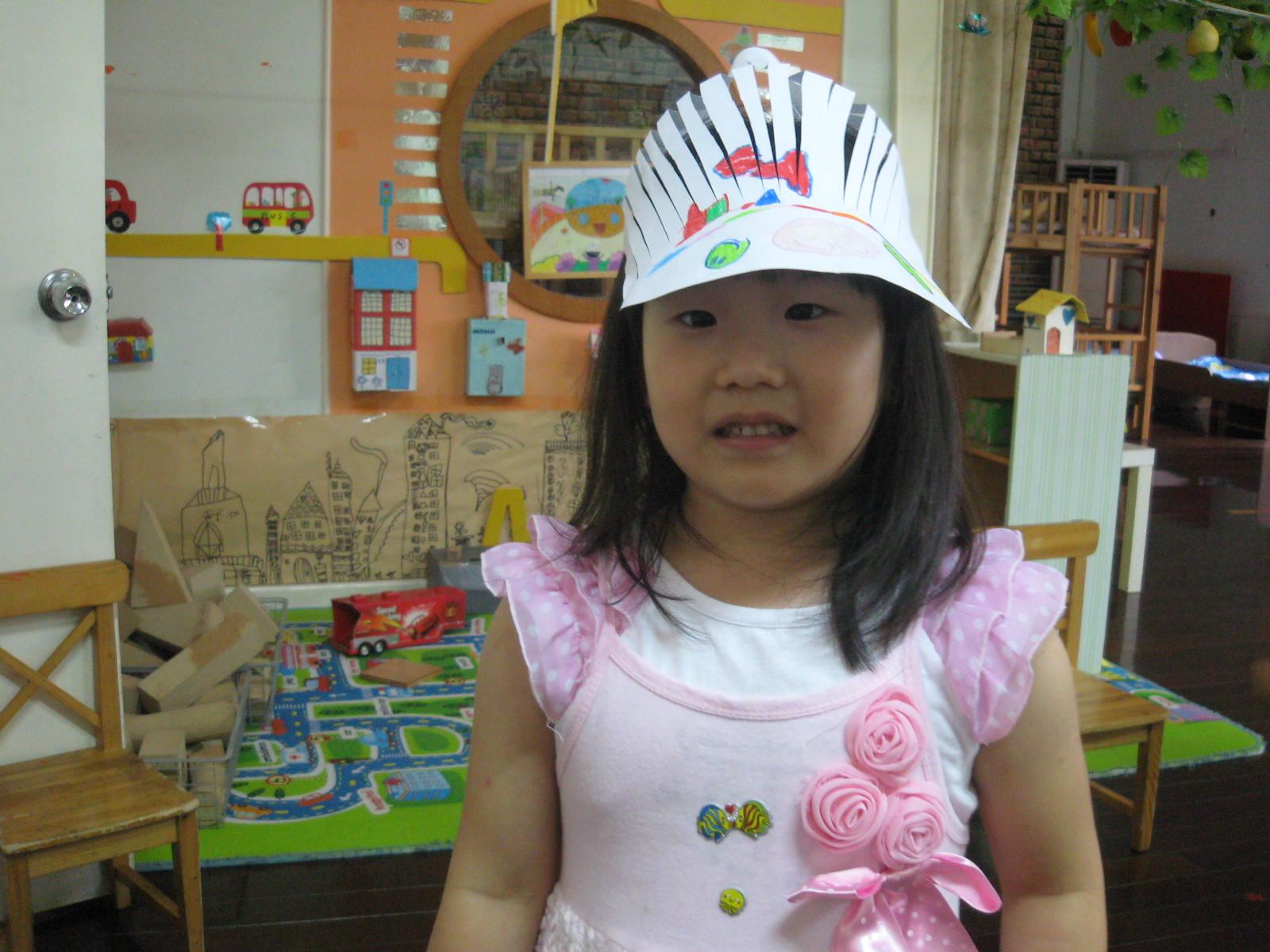 幼儿简笔画凉帽步骤