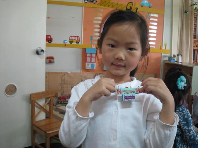 园所主页 13年毕业阳阳2班 宝宝作品秀  手工作品《小小设计师》