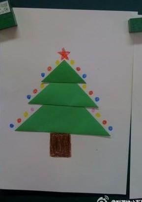幼儿园松树手工制作图片