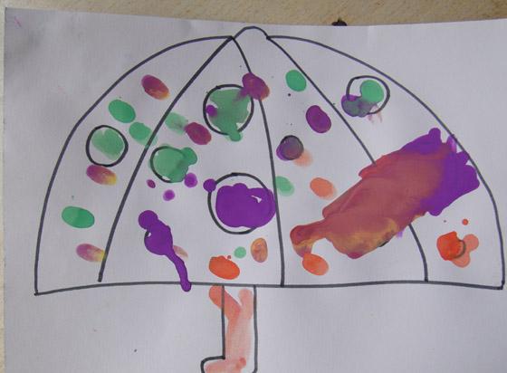 幼兒園主題網絡圖設計傘