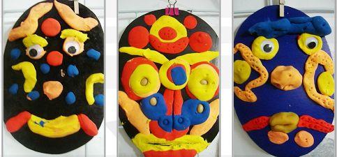 幼儿手工制作脸谱橡皮泥