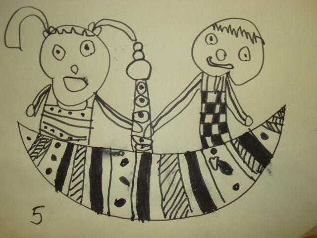 童心童画  请睁大眼睛(用孩子的眼光)看一组孩子的作品: 大嘴巴&#160