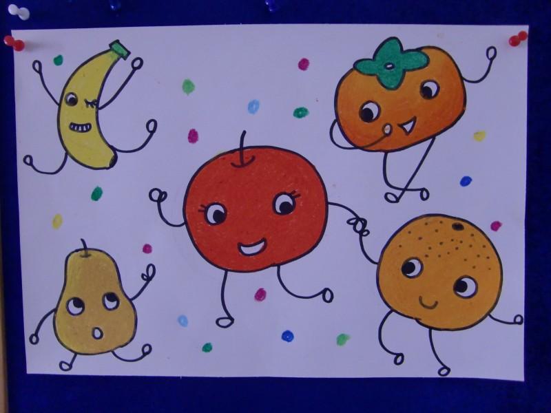 《果宝宝的舞会》绘画作品展示