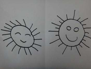 幼儿画太阳的头发分享展示