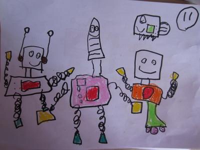 幼儿绘画机器人作品展示