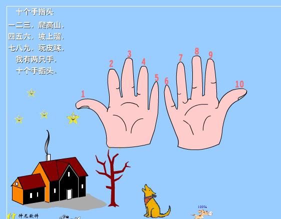 向您推荐:儿歌《十个手指头》