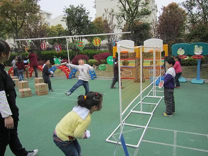 欧风幼儿园开展户外混班体育区域大活动