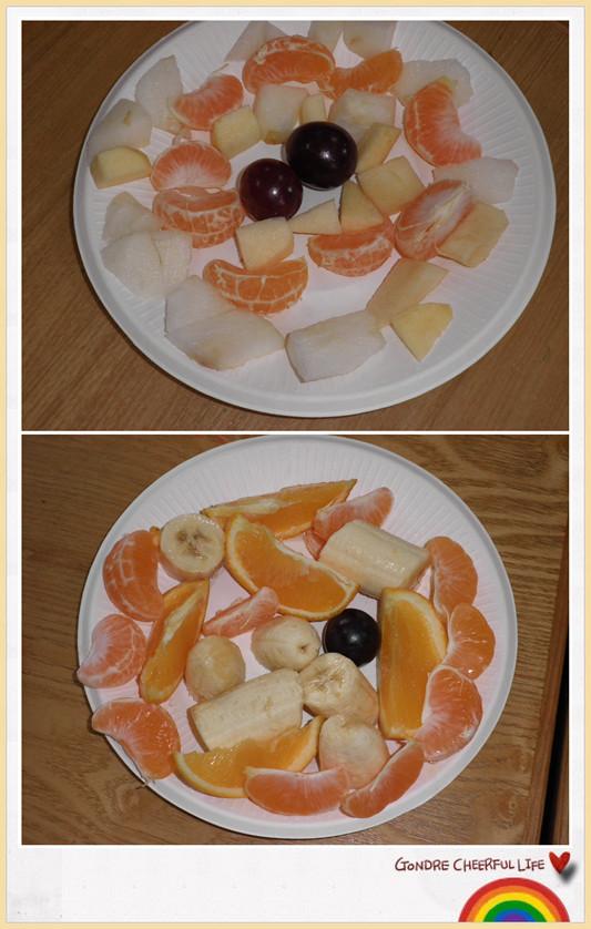 我们的水果拼盘一