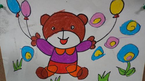可爱的小熊              今天我们画小熊啦!